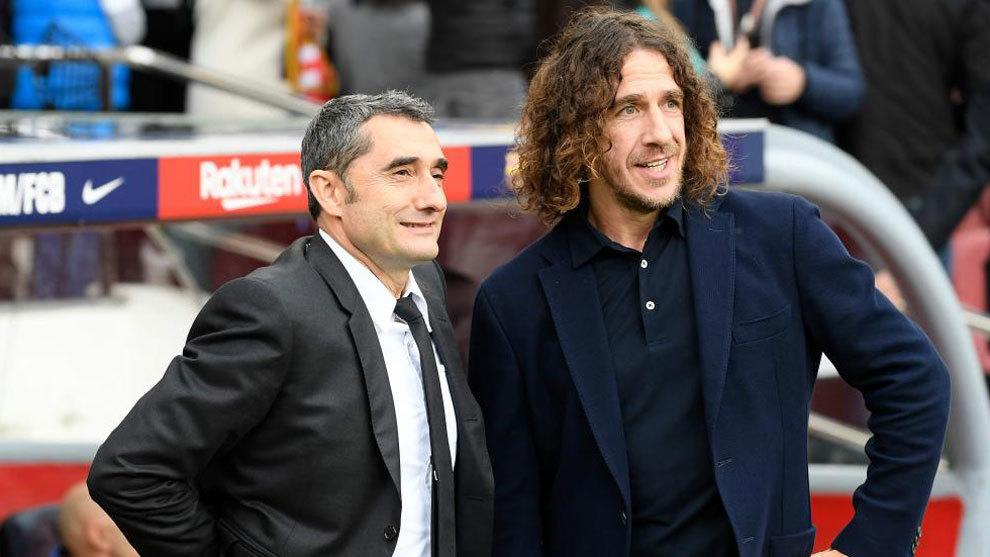 Valverde and Puyol.