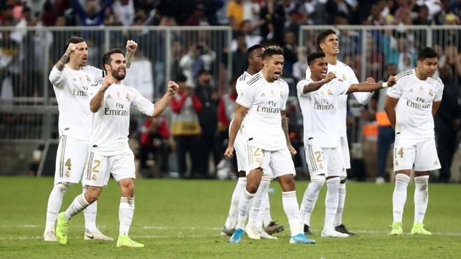 El Real Madrid durante la Supercopa de España.