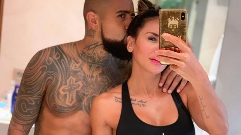 Arturo Vidal and Sonia Isaza