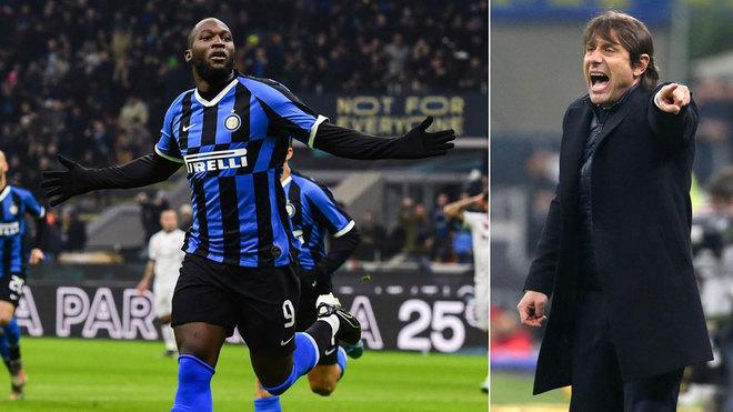 Lukaku y Conte.