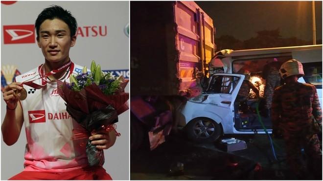 A la izquierda, el jugador nipón; a la derecha, el coche tras el...