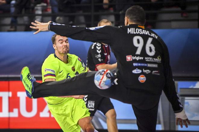 Mortensen, en un partido de la Champions con el Barcelona en 2018 /