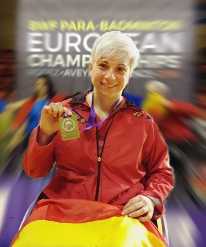 Marcela Quinteros posa con su bronce europeo.
