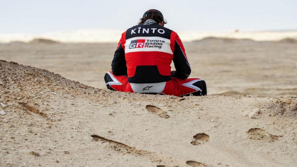 Alonso, tras la neutralización de etapa.