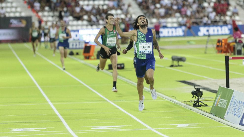 Fernando Carro, en competición