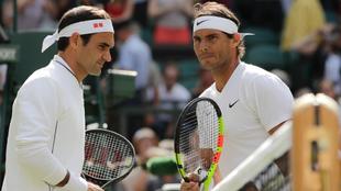 Federer y Nadal en Wimbledon en 2019