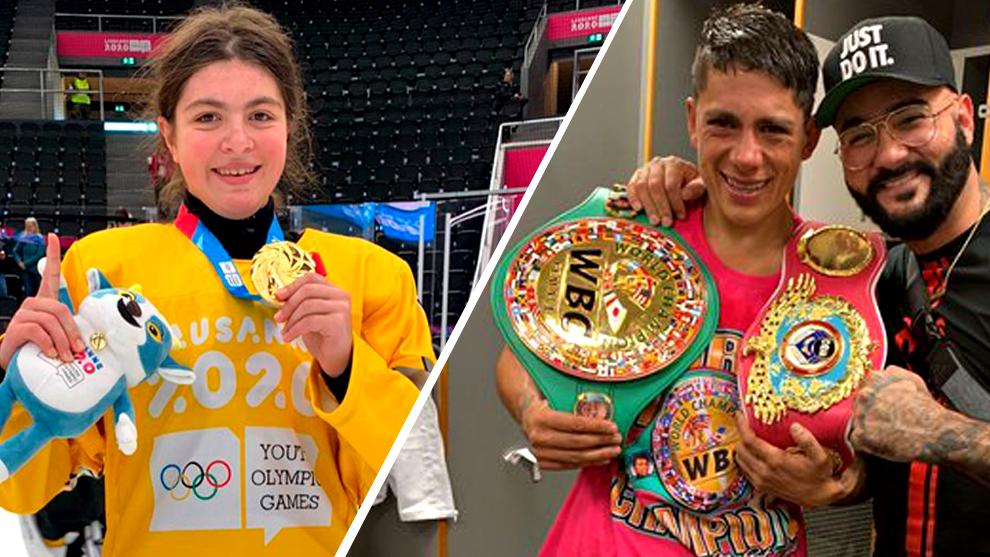 Wilson y Jiménez posan con sus respectivos títulos