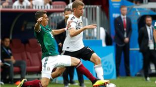 Müller contra México en el partido del Mundial 2018