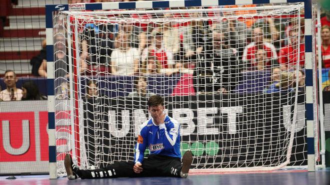 El portero Niklas Landin, en el partido contra Hungría disputado el...