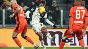 Dybala lanza a portería para poner el 3-0 ante el Udinese