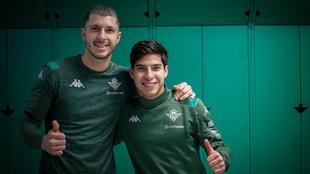 Guido Rodríguez y Lainez, en el vestuario