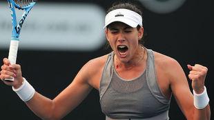 Garbiñe celebra una victoria en Hobart
