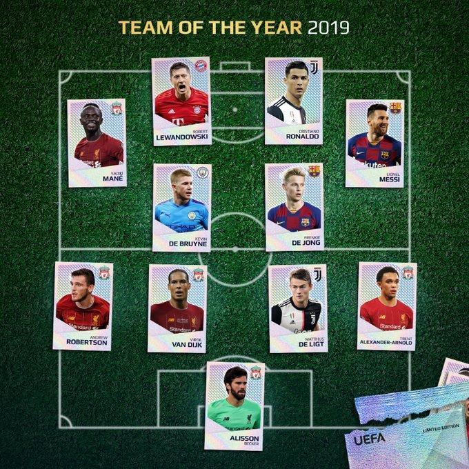 Formazione ideale uefa 2019