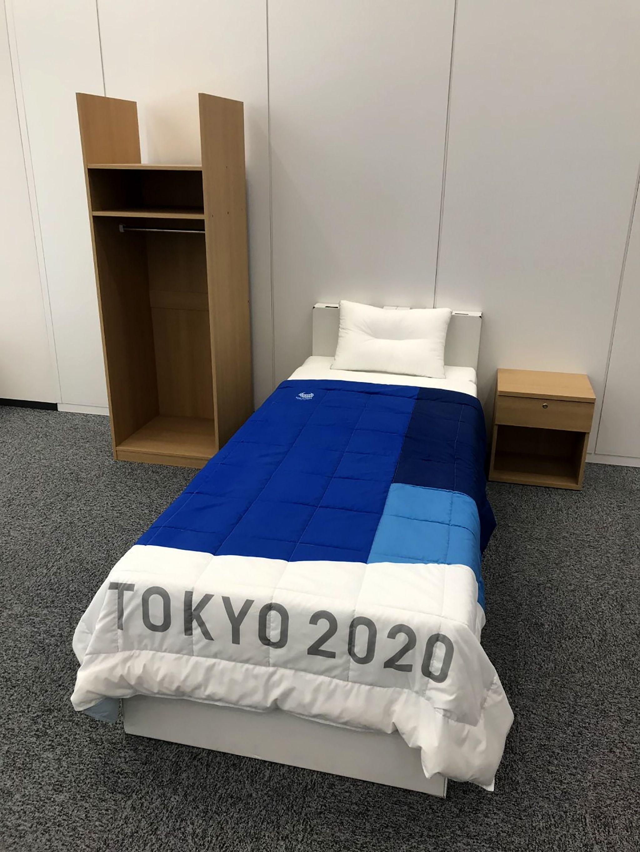Cama de la Villa Olímpica de los Juegos Olímpicos de Tokyo 2020