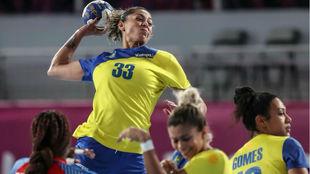 La lateral izquierdo internacional brasileña Jaqueline Anastacio /