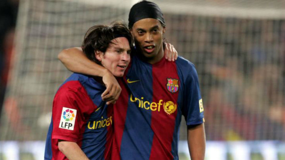Barcelona Ronaldinho Messi Has Everything He Didn T Need Anything From Me Marca In English