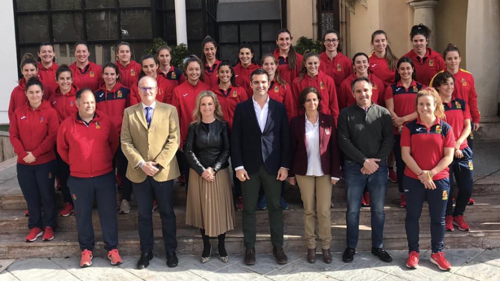 Recepción a la selección española en el Ayuntamiento de Almería