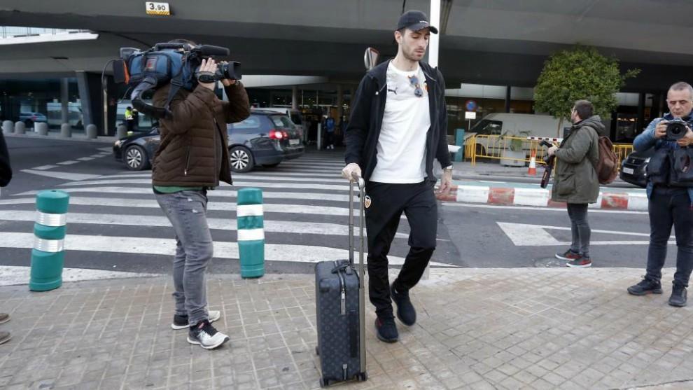 Piccini, a su llegada a Manises tras la Supercopa de Arabia.