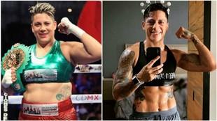 Alejandra Jiménez como campeona del mundo de los pesados y antes de...