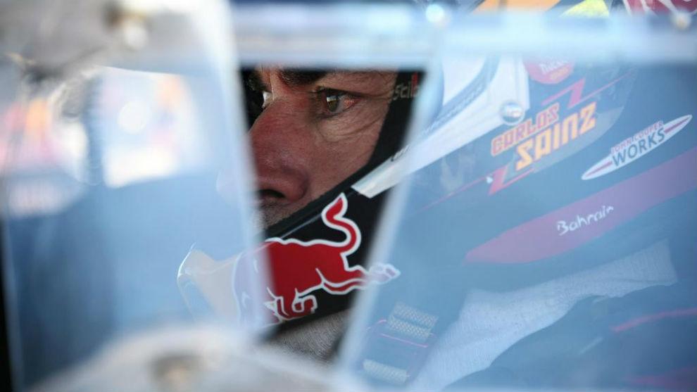 Carlos Sainz, durante la etapa de hoy.