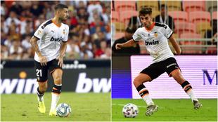 Piccini y Ferran, en acción esta temporada con el Valencia.