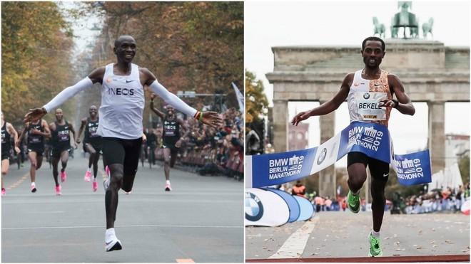 Kipchoge y Bekele, en carrera