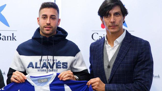 Sergio Fernández posa con Camarasa.