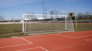 Aspecto de Las Pistas, estadio de Unionistas de Salamanca.