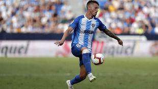 Iván Rodríguez, durante un partido con el Málaga.