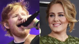 Adele y Ed Sheeran, los artistas de mayor éxito comercial en la...