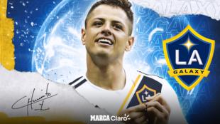 Chicharito, nuevo futbolista del Galaxy de Los Angeles.