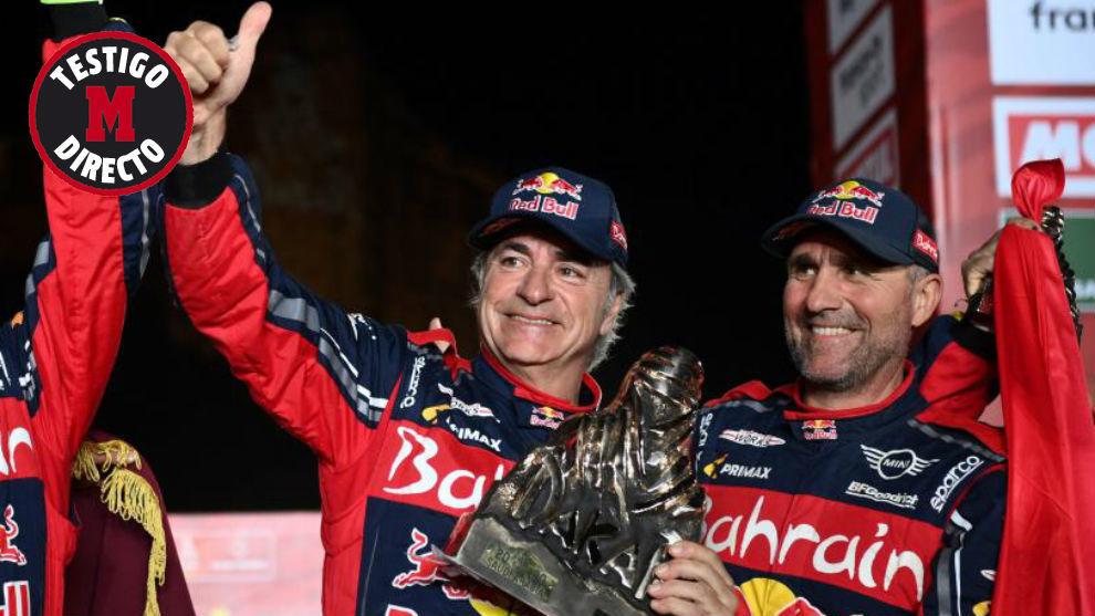 Sainz, con si tercer trofeo tuareg.