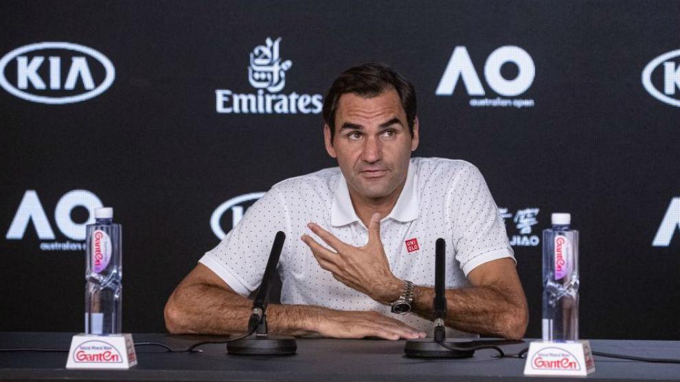 Federer, en la rueda de prensa