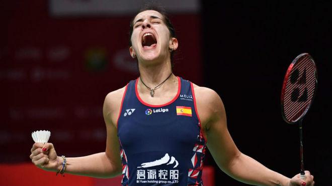 Carolina Marín, tras lograr el pase a la final.