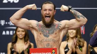 Conor McGregor, durante el pesaje.