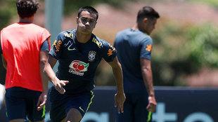 Reinieir training with Brazil