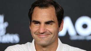 Federer, en la rueda de prensa.