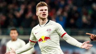 Werner celebra uno de sus goles.