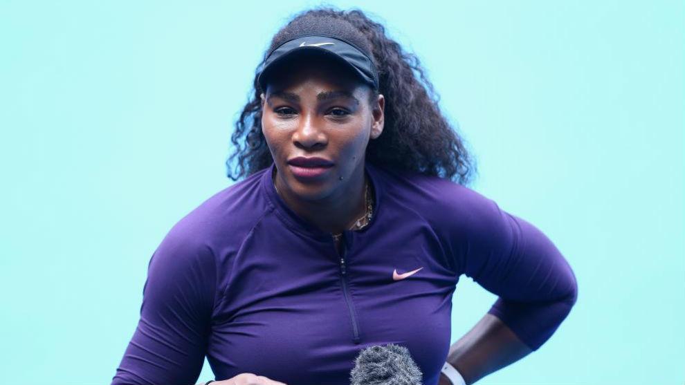 Serena, durante un entrenamiento en Melbourne