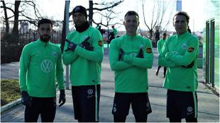 Jugadores del Wolfsburg.