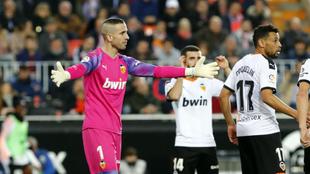 Jaume, en un partido con el Valencia en Mestalla.