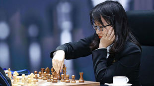 La campeona del mundo, Ju Wenjun.