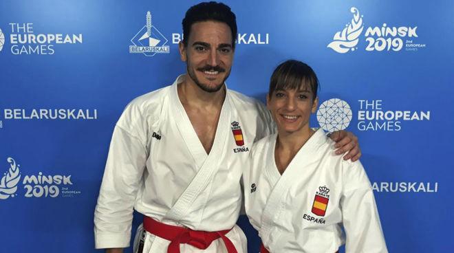 Damián Quintero y Sandra Sánchez en los pasados Juegos Europeos.