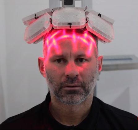 Ryan Giggs during hair transplant
