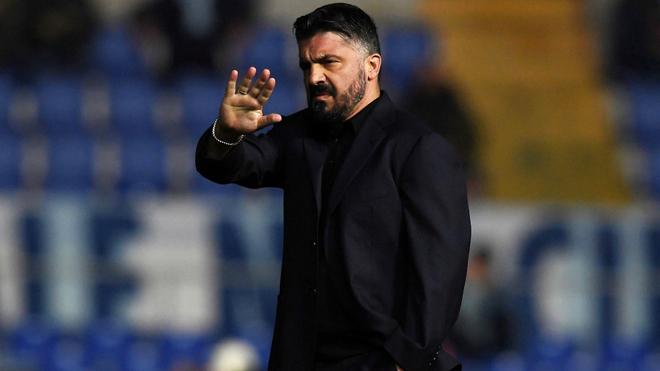 Gennaro Gattuso, entrenador del Napoli.