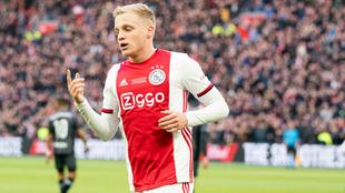 Donny van de Beek, futbolista del Ajax.