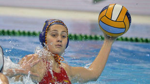 Judith Forca en el anterior partido, contra Alemania.