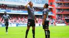Mauro Quiroga celebrando su primera gol ante el Toluca.