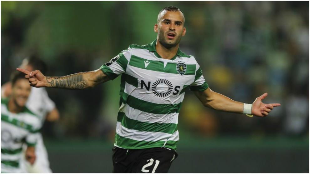 Jesé Rodríguez celebra su gol contra el Vitoria Guimaraes.