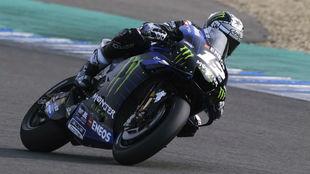 Viñales, con la Yamaha M1 de 2020, en los test de Jerez del noviembre...